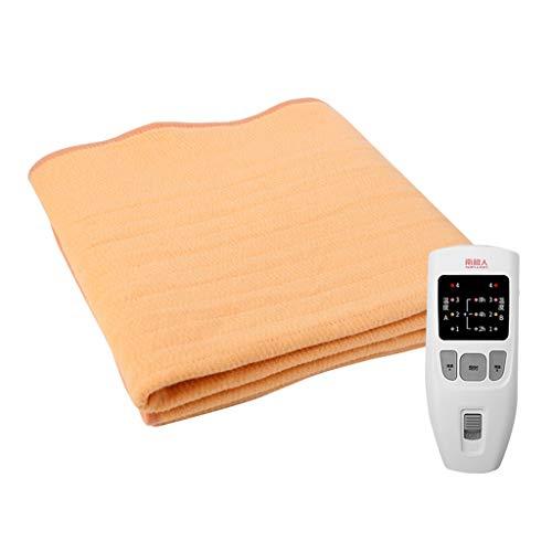 BTPDIAN Manta eléctrica, Manta de calefacción impermeable de 4 niveles ajustable a prueba de agua, colchón eléctrico agrandado de una sola persona. Tipo de tela no tejida Manta eléctrica, apagado auto