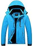 Pooluly Women's Ski Jacket Warm Winter Waterproof Windbreaker Hooded Raincoat...