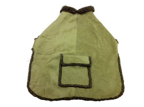CPC Velourslederimitat und Trinkgeld Berber Mantel/Jacke für Hunde, Large, Sage