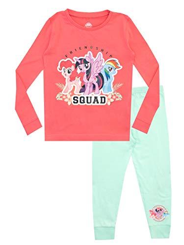My Little Pony Pijamas de Manga Larga para niñas Pequeño Pony Ajuste Ceñido Rosa 18-24 Meses