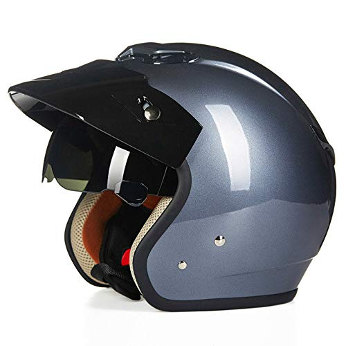 Berrd Motorradhelm Motorradhalbhelm Retro Helm Motorrad Offene Sonnenbrille Helm Fahrradhelm 4 XL