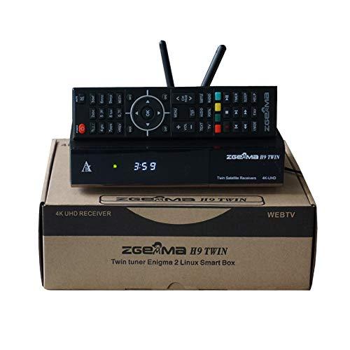 ZGEMMA H9 Twin mit 2 * DVB-S2X Tuner 2 * CI 2 * WiFi-Antenne E2 Linux 4K UHD H.265 / HEVC Satellien TV Receiver