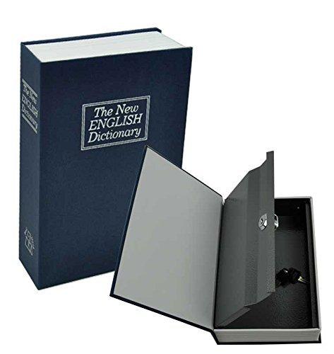 eS³kube Metal Hidden Secret Book Safe Dictionary Style Iron Locker Vault Box Home Hidden Box, Random Color, Size 18 cm x 11 cm x 5.5 cm - 01 Piece