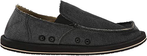 Sanuk Men's Vagabond Slip-On, Charcoal, 16 M