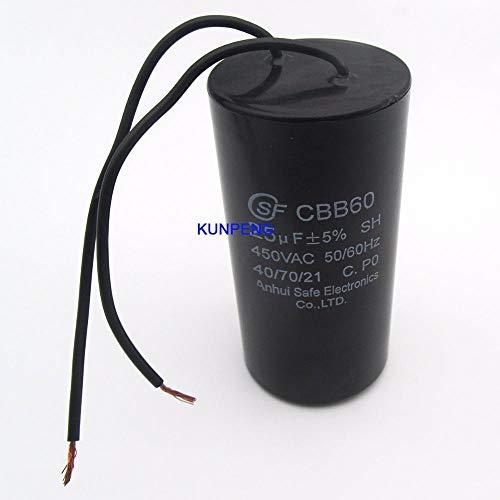 LIMMC universele condensator motorstarter AC 1/50 V 60/60 Hz met kabel, 25 UF