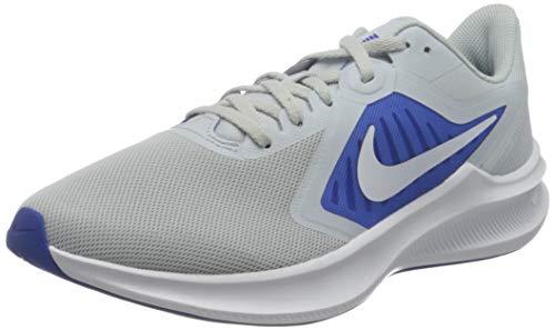Nike Herren Downshifter 10 Running Shoe, Pure Platinum/White-Hyper Royal, 43 EU
