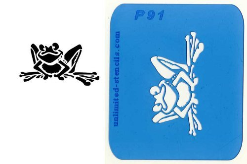 UNLIMITED STENCILS 1 Airbrush Tattoo Schablone FROSCH # 91