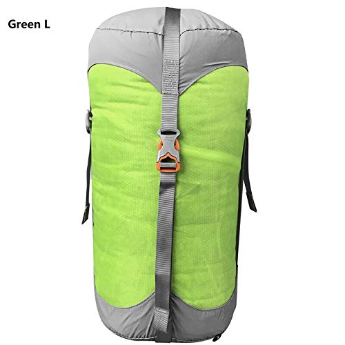Générique Sac de Compression en Nylon pour Sacs de Couchage - 4 Couleurs - 4 Tailles - Couleur : Vert L
