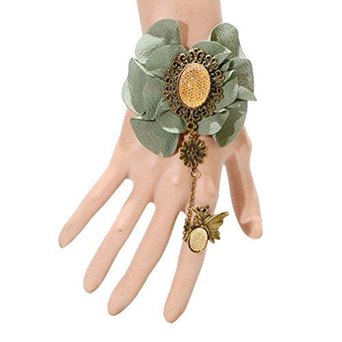 Bijoux complexe Gulei Si Cristal Précieuses Bracelet Anneau, papillon vert