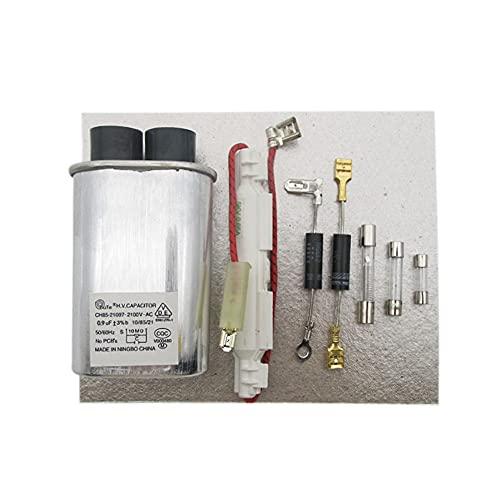 QYANGSHAN Hojas de Mica + Condensador de Alto Voltaje + diodo de Alto Voltaje + Accesorios de Fusible para Piezas de reparación de Horno de microondas estándar Midea