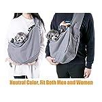 Maxmer Pet Sling Carrier, Dog Sling Bag Shoulder Carry Tote Handbag Dog Travel Carrier Bag for Cat Puppy Kitty Rabbit Bunny 12
