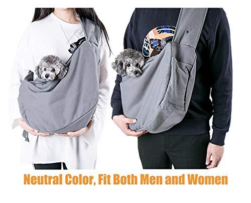 Maxmer Pet Sling Carrier, Dog Sling Bag Shoulder Carry Tote Handbag Dog Travel Carrier Bag for Cat Puppy Kitty Rabbit Bunny 5