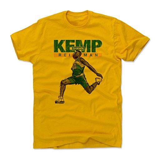 500 LEVEL Shawn Kemp Shirt (Cotton, Large, Gold) - Seattle Men's Apparel - Shawn Kemp Fly Name G