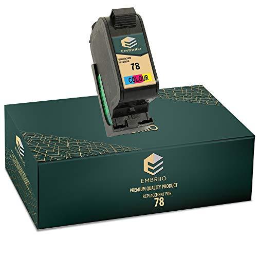 EMBRIIO 78 Color Cartucho de Tinta Reemplazo para HP Officejet 1170 G55 G85 G95 K60 K80 Fax 1220 Photosmart 1000 1100 1115 1215 1315 P1000 P1100 Copier 180 280 Deskjet 1180c 1280 6120 9300 970cxi