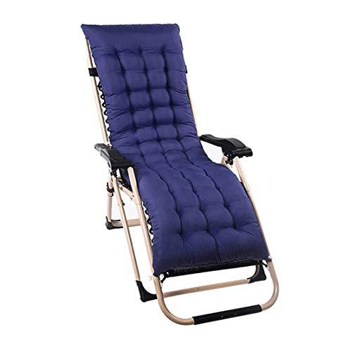 Cojín para Silla, para Tumbona con Cubierta Antideslizante,para Tumbona reclinable 53x155cm Blue