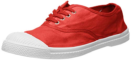 Bensimon Damen Tennis Lacets Sneaker, Rot (Grenadine 0494), 37 EU
