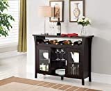 Kings Brand Furniture Wine Rack Buffet Server Console Table with Glass Doors, Espresso (WR1346)