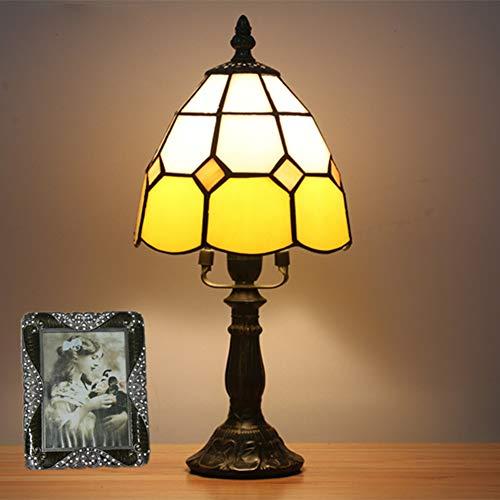 GUOGEGE Tiffany Tafellamp, Europese retro eenvoudige nachtlampje slaapkamer nachtlampje bar cafe decoratie Kleine tafellamp (Multi kleuren, YF035