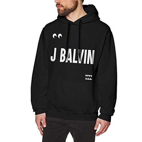 fenglinghua Sudaderas de Hombre J Balvin Man'S Hoodie Sweater Fashion Classic Long Sleeve Top Hoodies Hooded Sweatshirt