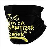 2020 Humor Living On Hand Sanitizer and Prayer Unisex Neck Gaiter Warmer Windproof Sports Bandanas Face Mask Black