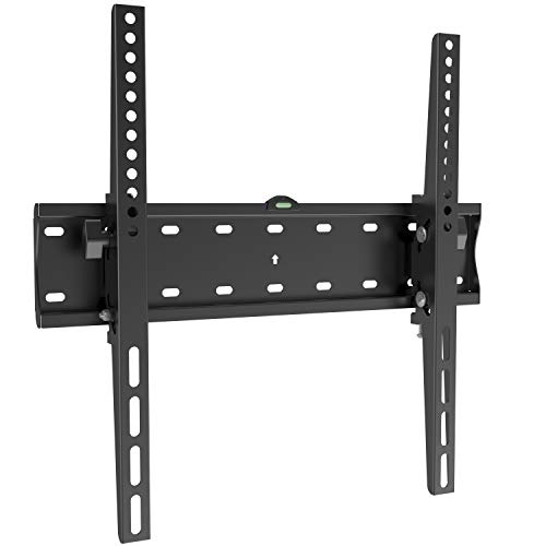 Tilting TV Wall Mount Bracket for Most 32-55 Inch, Flat& Curved Screen TVs, with VESA up to 400x400mm and 88lbs Loading Capacity, Easy to Install On 12-16 inch Wood Studs, Space Saving TV Wall Bracket