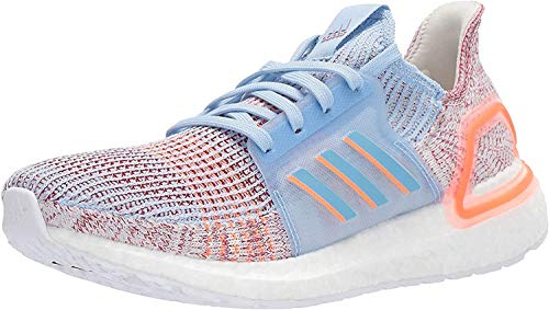 adidas Women's Ultraboost 19 Running Shoe, Glow Blue Hi Res Coral Active Maroon, 7 UK