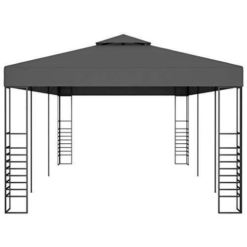 Estink Pergola - Cenador de jardín (3 x 6 m), color gris