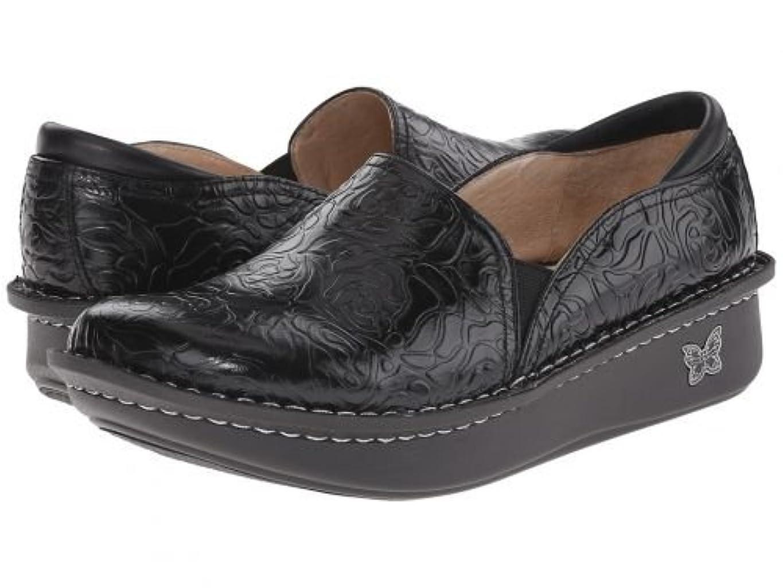 レンジなだめるスリチンモイAlegria(アレグリア) レディース 女性用 シューズ 靴 クロッグ ミュール Debra Professional - Black Emboss Rose Leather 39 (US Women's 9-9.5) Regular [並行輸入品]
