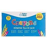 Baker Ross FE417 Großpackung Wachsmalstifte - 288 Stück, Mal Zubehör, Buntstifte für Kinder, Kunstzubehör für Kinder und Erwachsene