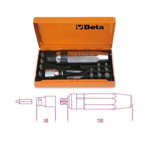 Beta 1295/C14 - Giraviti a Percussione con 14 Inserti e Bussola Portainserti - 1 Pezzo