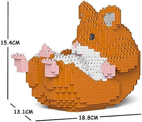 el más barato JECKA Animal Building Blocks for Kidults Hamster Hamster Hamster 04S-M03  tienda en linea
