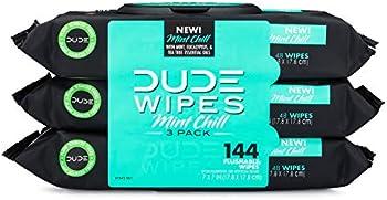 3-Pack Dude Wipes Flushable Wet Wipes Dispenser
