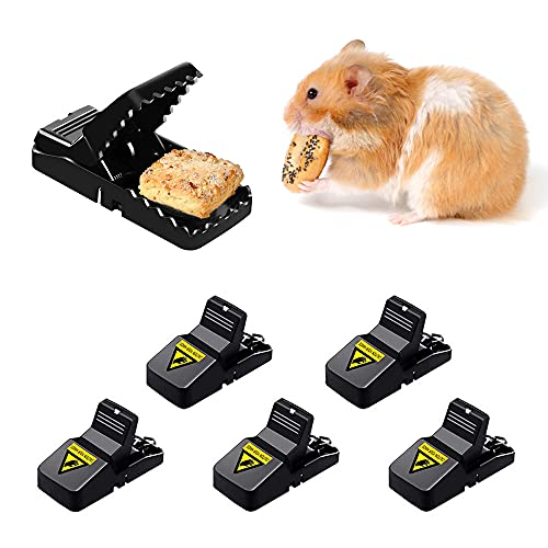 Aloces 6er Set Profi Mäusefalle Schlagfalle Rattenfalle, Mausefalle Schlagfallen Kunststoff, Wiederverwendbar Effektive Ökologisch und wiederverwendbar in Haus und Garten Falle für Maus, Ratte