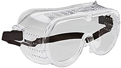 ERB Safety 15143 116 Perforated Goggles with Ventilated Eye Protection, Anti-Fog Lens, Plastic, One Size, Clear