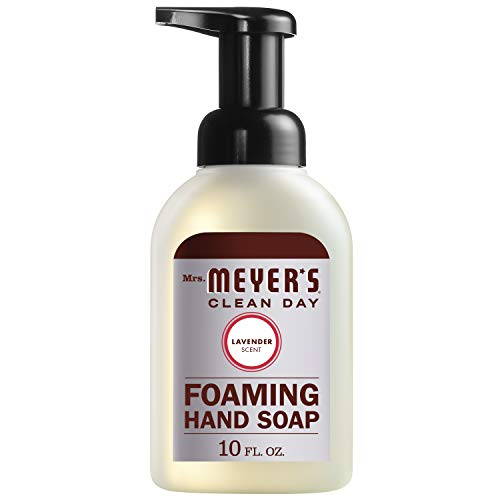 Mrs. Meyer's Clean Day Foaming Hand Soap, Cruelty Free and Biodegradable Formula, Lavender Scent, 10 oz