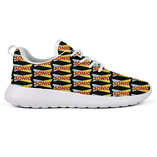Nhgwn Womens Running Shoes Sonic-Drive-in-America-Menu-Yellow- Comfortable Sneakers Wide Crazy