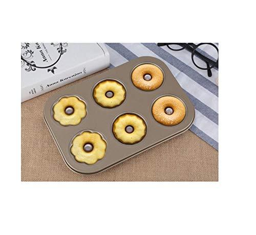 6 Zelfs ronde Holle Cake Mold Brood Bakken Dubbelzijdig Antistick Bakpan Oven Donut Mold S