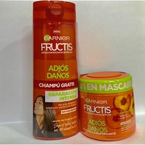 Garnier Fructis Masker Adios Danni 300 ml + gratis shampoo 250 ml