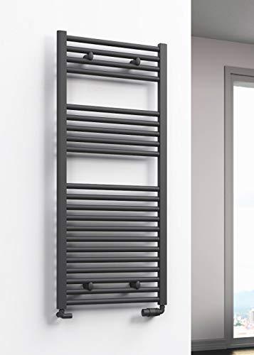 Reina Premium - Toallero de radiador con calefacción central, color antracita