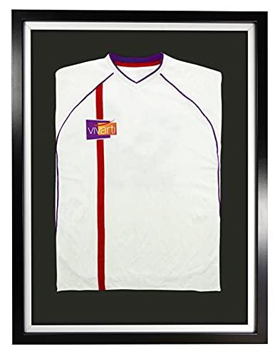 Telaio Vivarti DIY Junior Standard Sports Shirt Display 50x 70cm - Telaio nero, Telaio interno bianco, Scheda di supporto nero