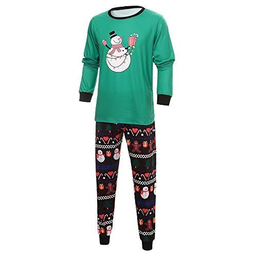 Moneycom - Ropa para mamá, bebé, niña, muñeco de nieve, diseño animado, top + pantalón de dos piezas, color negro Papa XXXL