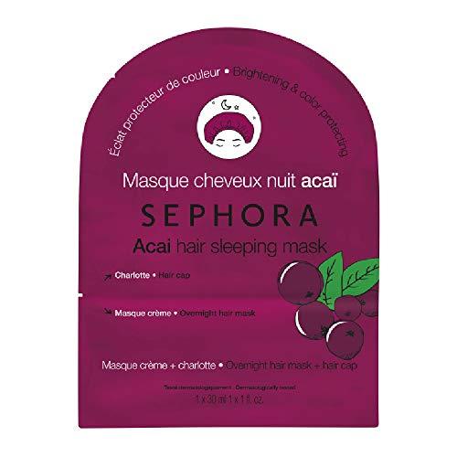 SEPHORA Acai Hair Sleeping Mask, protects glow and color 30 ml + 1 hair cap