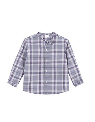 Gocco Camisa Cuadros Shirt, Gris Medio, 5/6 para Niños