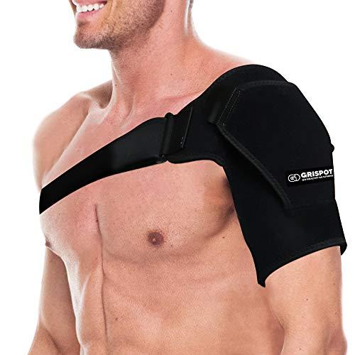 GRISPOT Shoulder Stability Brace for Men and Women, Adjustable Fit Sleeve Wrap.Relief for Shoulder...