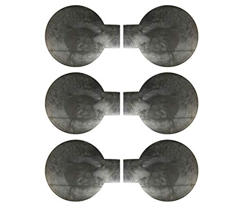 Six 8 inch Steel Target Tabbed Rounds for Plate Racks, Dueling Trees and Swingers