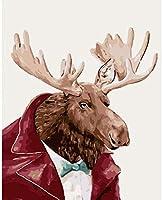 数字によるDIY絵画数字による絵画キット絵画鹿の装飾