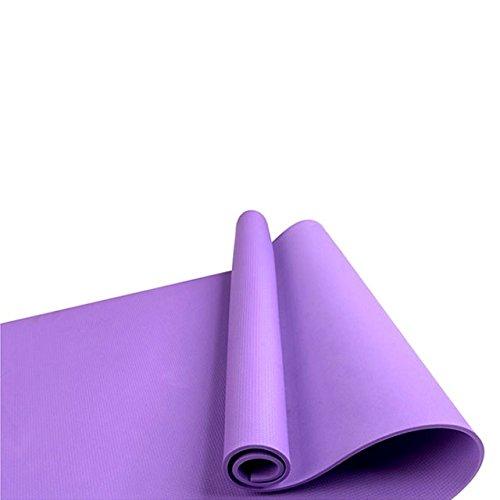 Vloermat warm te koop 4 kleuren dikke yoga oefening mat anti-slip pad fitness Pilates Accessoires soms slip matten schuiven aangewezen oefening matten,pruim