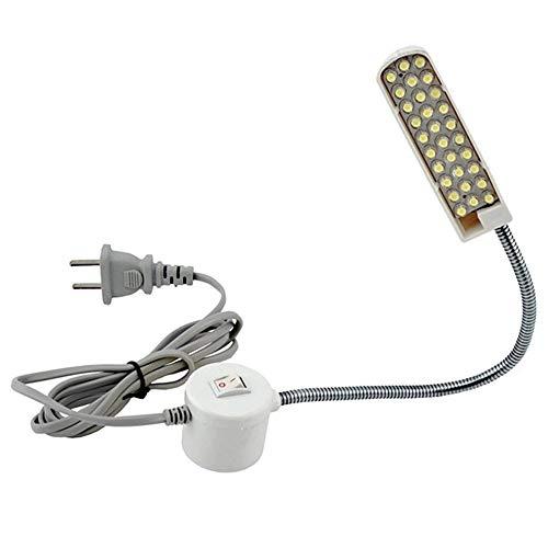 Super brillante 30 granos de la lámpara Máquina de coser ropa Luz Luz de trabajo en el hogar Lámpara Accesorios de la máquina de coser - Blanco