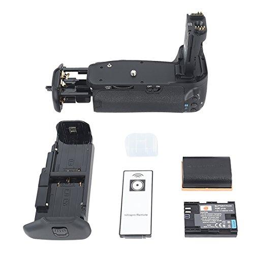 Dste - Empuñadura de batería para cámara réflex digital Canon EOS 60D (con mando a...