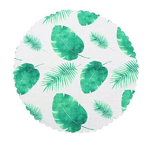 Generic Folha Verde Havaiano Tampa Padrão Impresso Toalha de Mesa Toalha de Mesa Mesa Redonda Toalhas De Mesa para Mesa de Jantar Festa de Aniversário